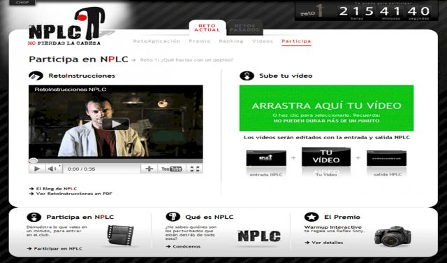 Web NPLC - Sección Participa