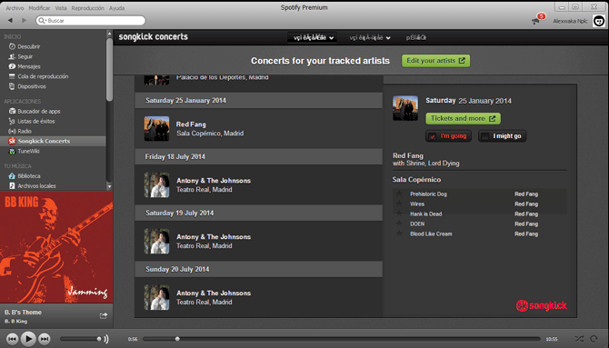 SONGKICk en SPOTIFY