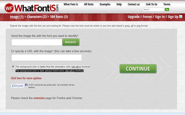 whatfontis reconocer fuente tipografica