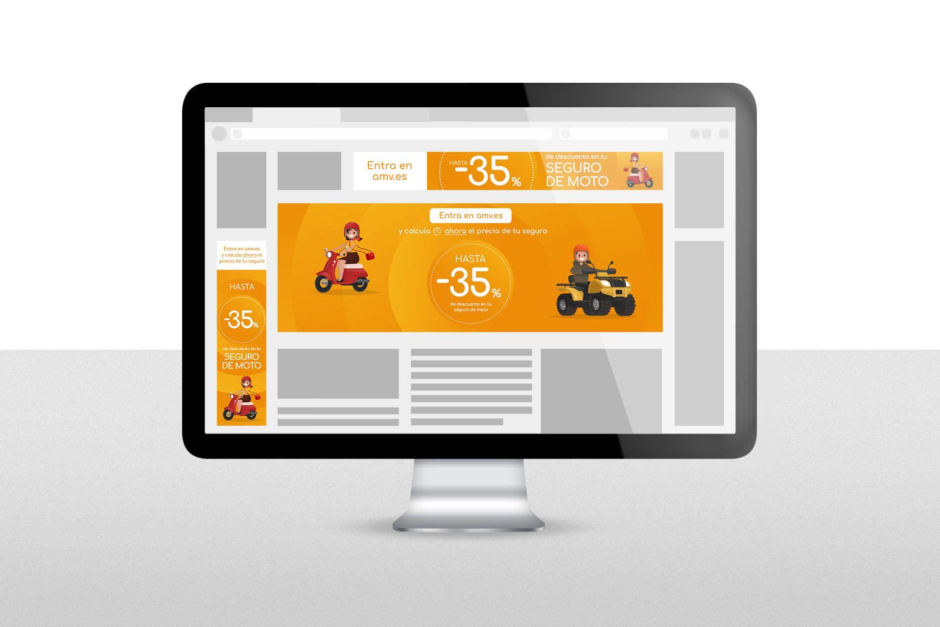 Diseño y maquetación de banners publicitarios, AMV