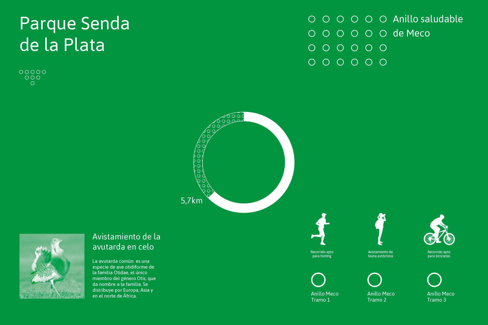Diseño de infografía para Anillo Saludable, Ayto. de Meco