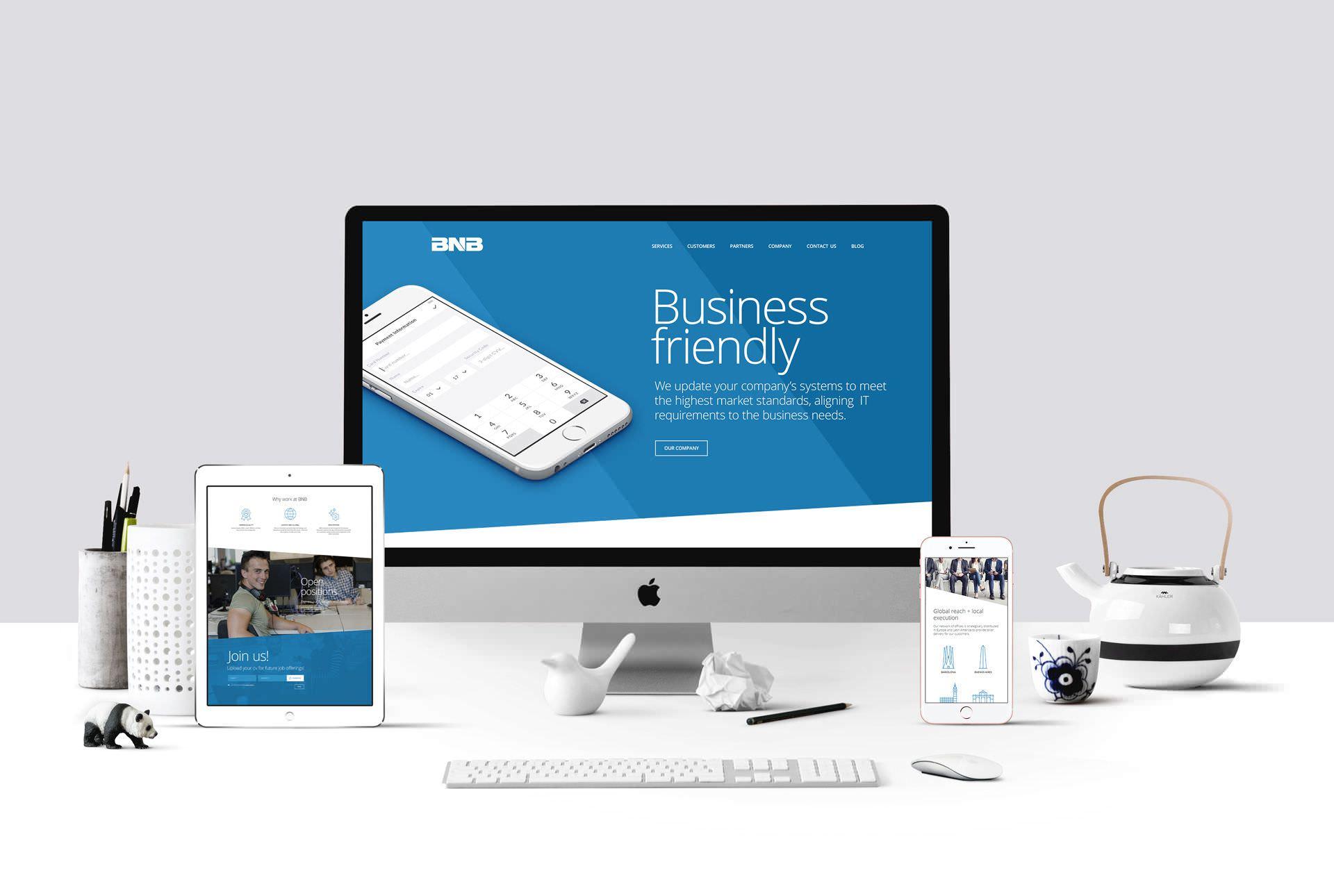 Web de BNB en diferentes dispositivos