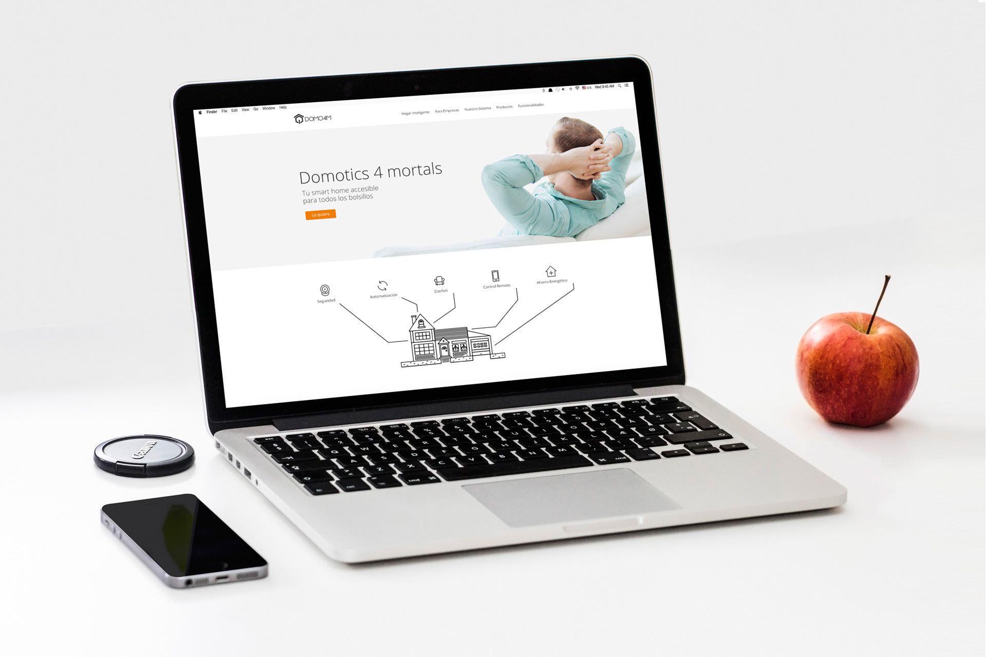 Diseño y desarrollo en WordPress de web corporativa para DOMO4M