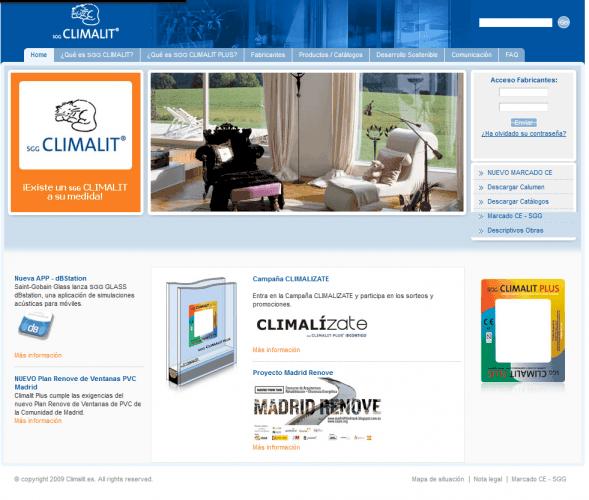 Web de CLIMALIT, hasta 2014