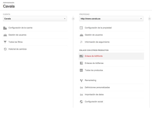 Como enlazar Adwords y Analytics - Paso 3