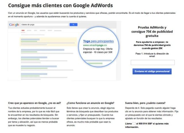 Cupones Google Adwords