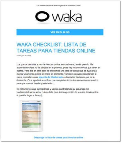 Newsletter Agencia Waka