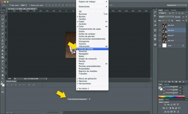 Cómo hacer un GIF animado con Photoshop - Paso 3