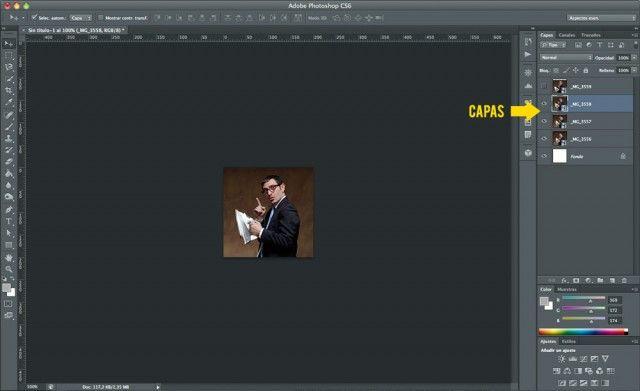 Cómo hacer un GIF animado con Photoshop - Paso 2