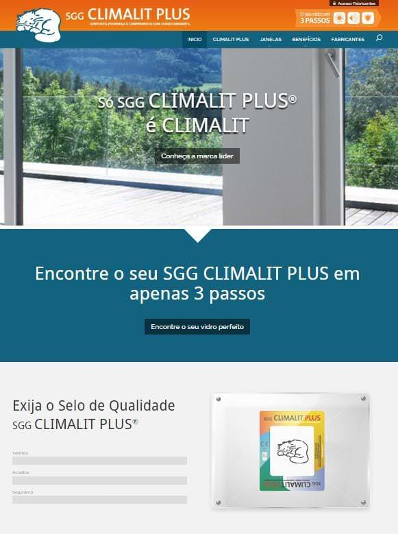 Diseño Web de Climalit en Portugal