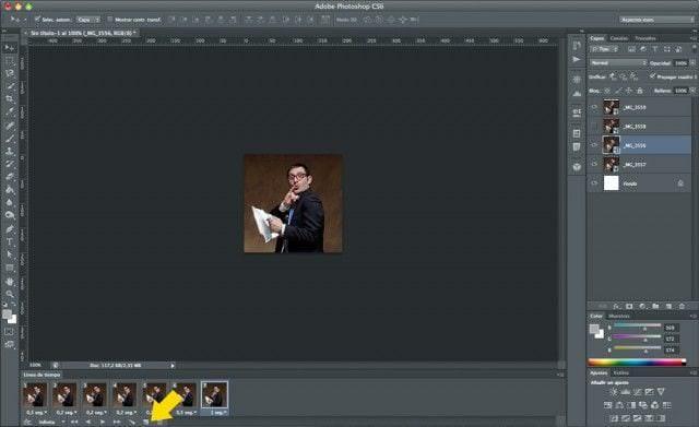 Cómo hacer un GIF animado con Photoshop - Paso 4