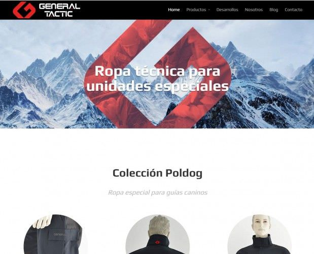 Diseño Web de General Tactic