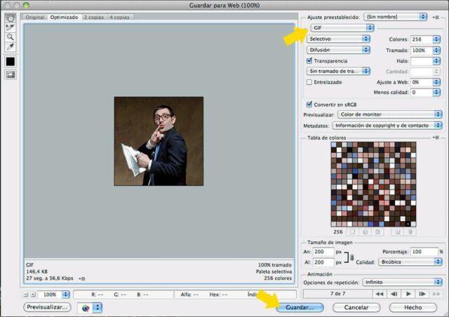 Cómo hacer un GIF animado con Photoshop - Paso 7