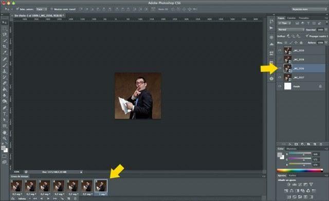 Cómo hacer un GIF animado con Photoshop - Paso 5