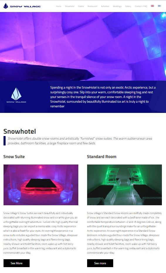 Diseño Web de Snowvillage