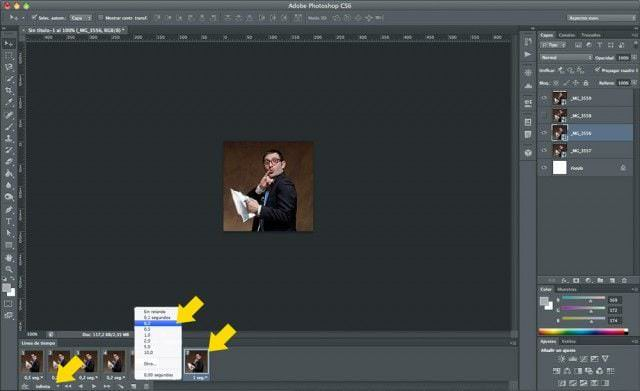 Cómo hacer un GIF animado con Photoshop - Paso 6