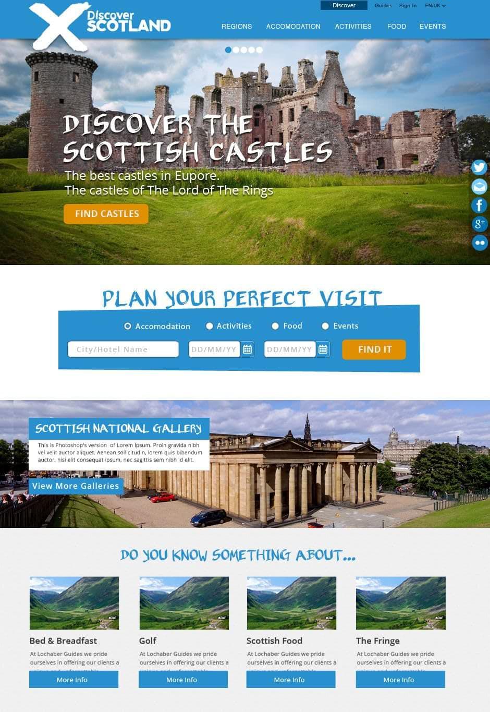 Nuevo Diseño Web Discover Scotland