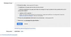 Elegir Estrategia de puja en Google Adwords para tiendas online