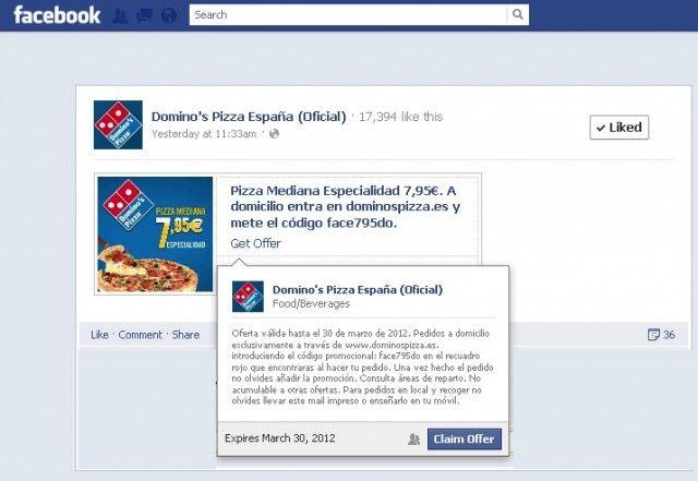 Ejemplo Ofertas de Facebook
