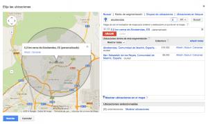 Orientacion por ubicacion avanzada en Google Adwords para tiendas online y físicas