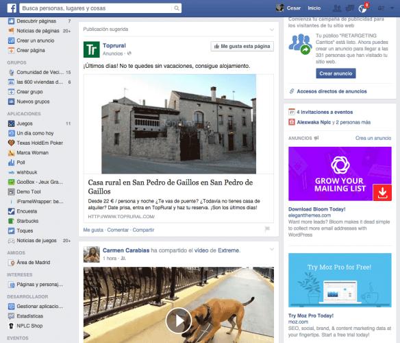 Ejemplo Publicidad Nativa de Top Rural en Facebook