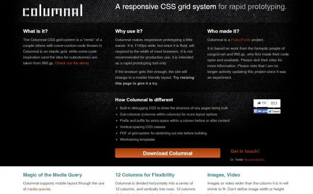 Grid de Diseño Web Responsive Columnal