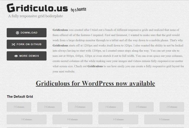 Grid de Diseño Web Responsive GRIDICULO
