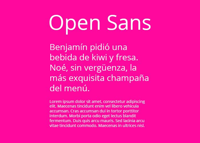 tipografias gratis open sans