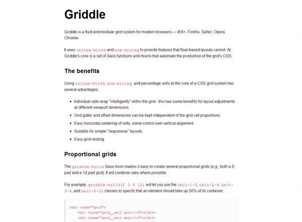 Grid Responsive GRIDDLE