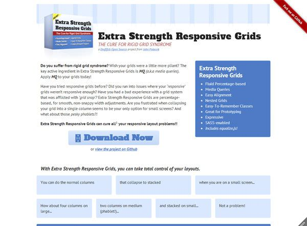 Grid de Diseño Web Responsive EXTRA STRENGTH RG