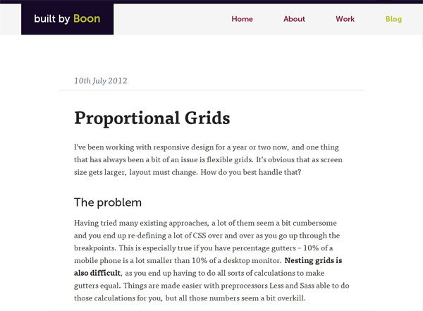 Grid Responsive PROPORTIONAL GRIDS