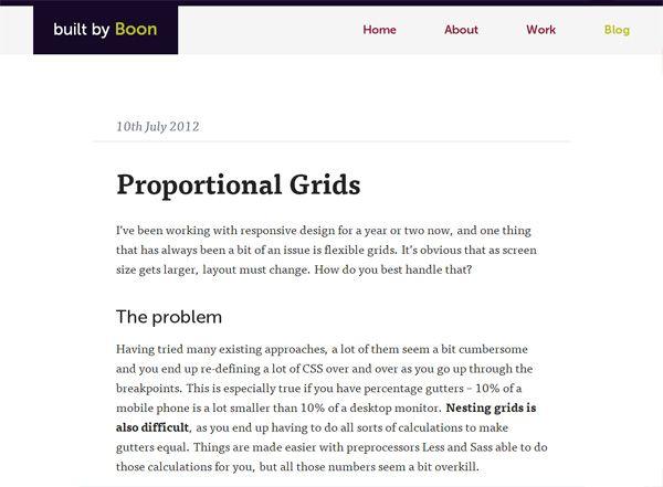 Grid Responsive PROPORTIONAL GRIDS