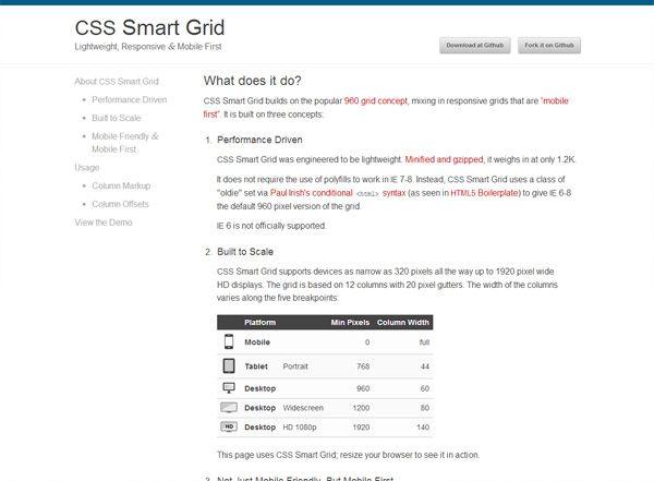 Grid de Diseño Web Responsive CSS SMART GRID