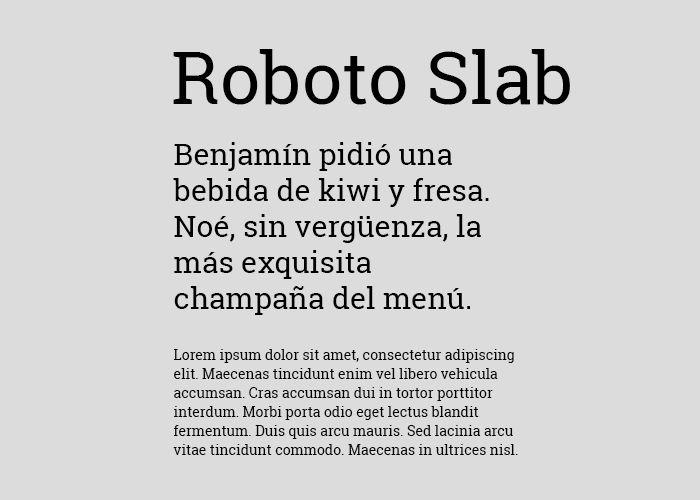 tipografias gratis roboto slab