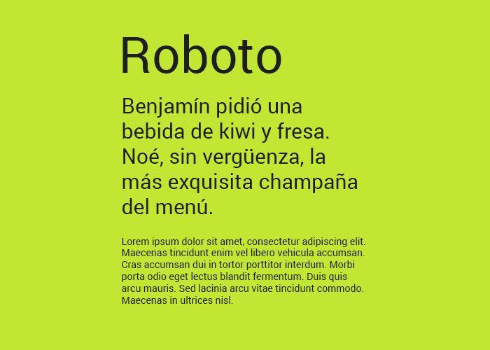tipografias gratis roboto