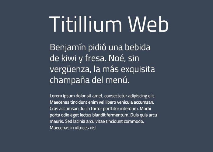 tipografias gratis titillium