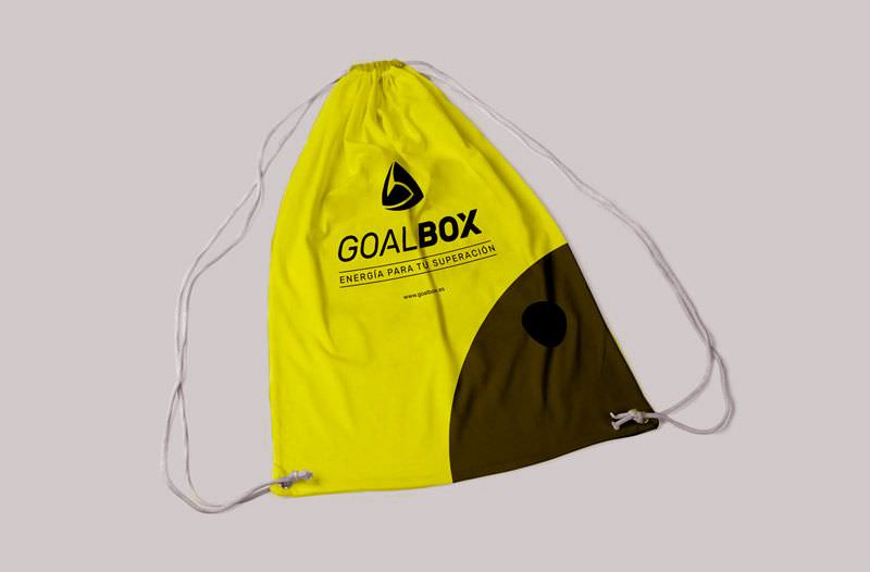 diseño de bolsa corporativa goalbox