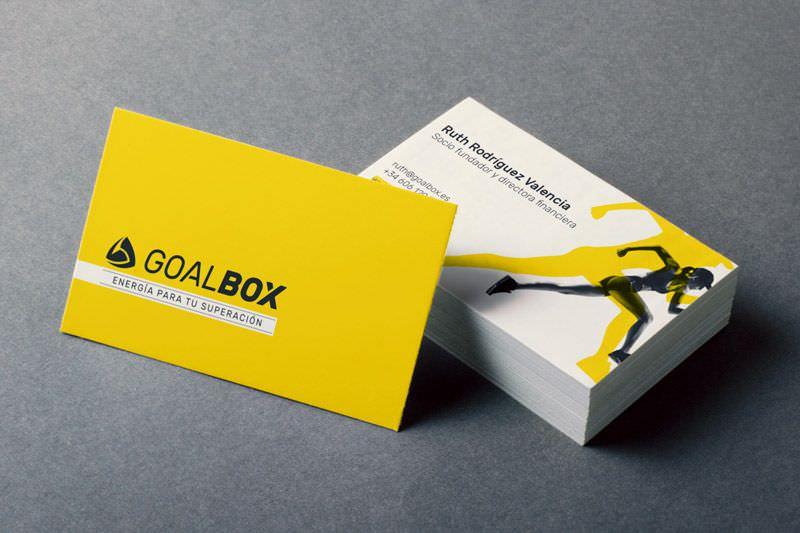 diseño de tarjetas de visita goalbox