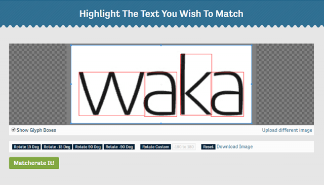 tipos de tipografía con Font Matcherator