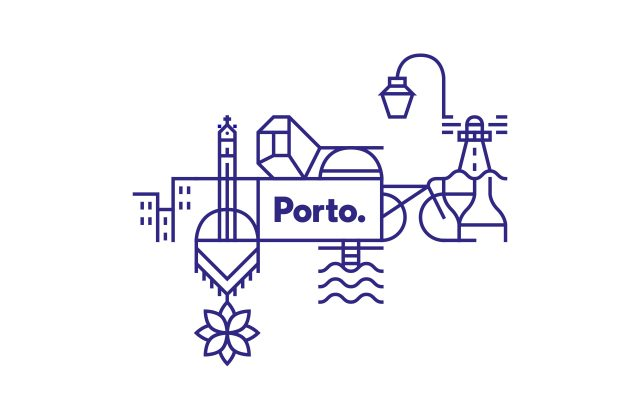 ejemplo logotipo para ciudad oporto