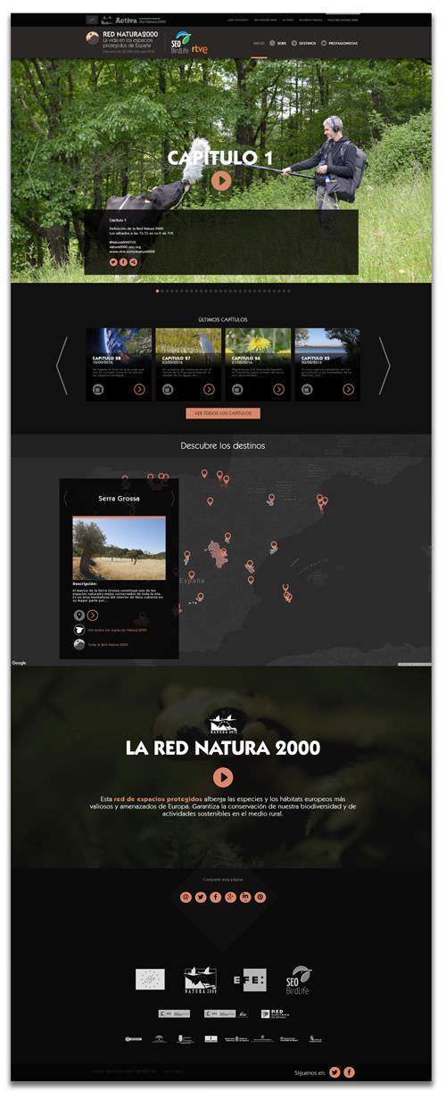 diseño interfaz web para RED NATURA 2000