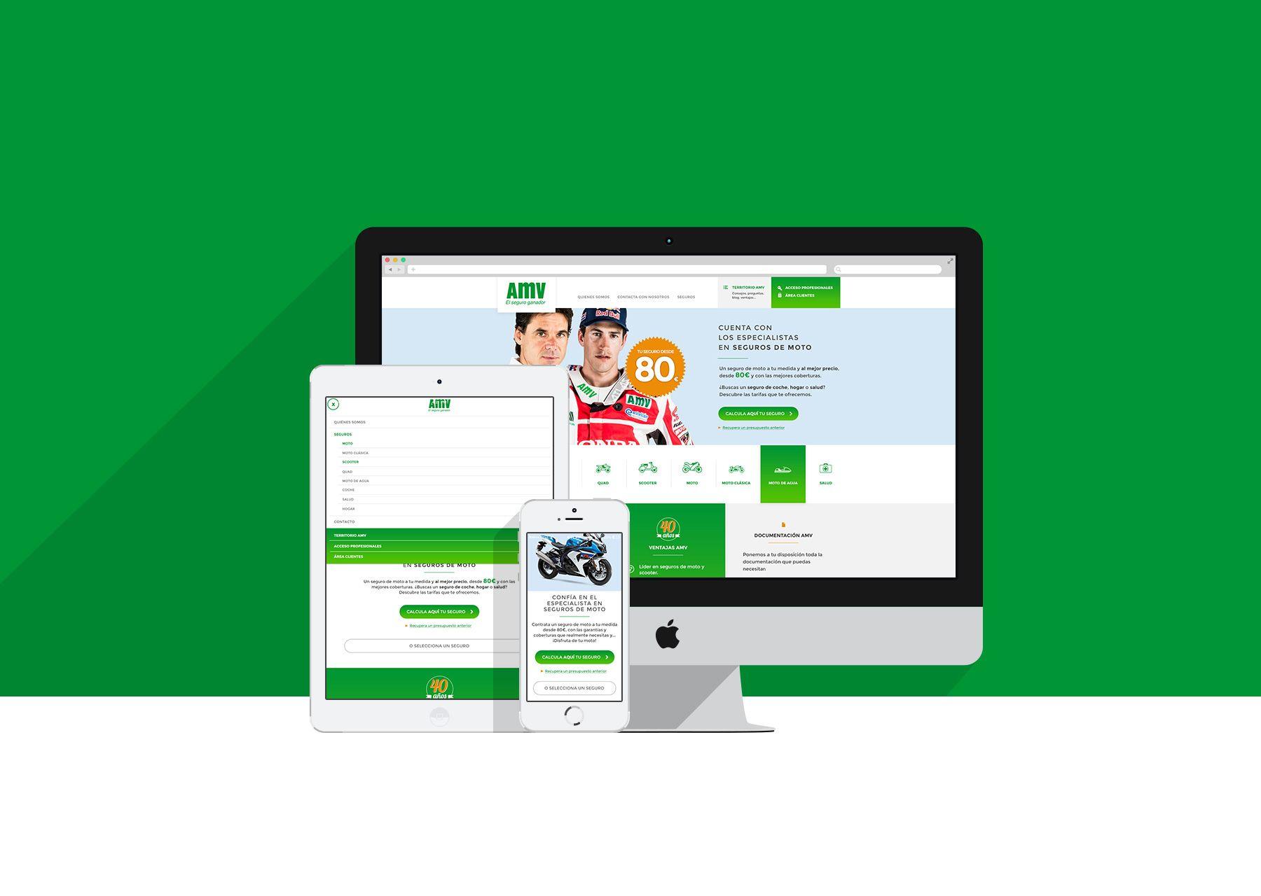 Diseño de web responsive para AMV