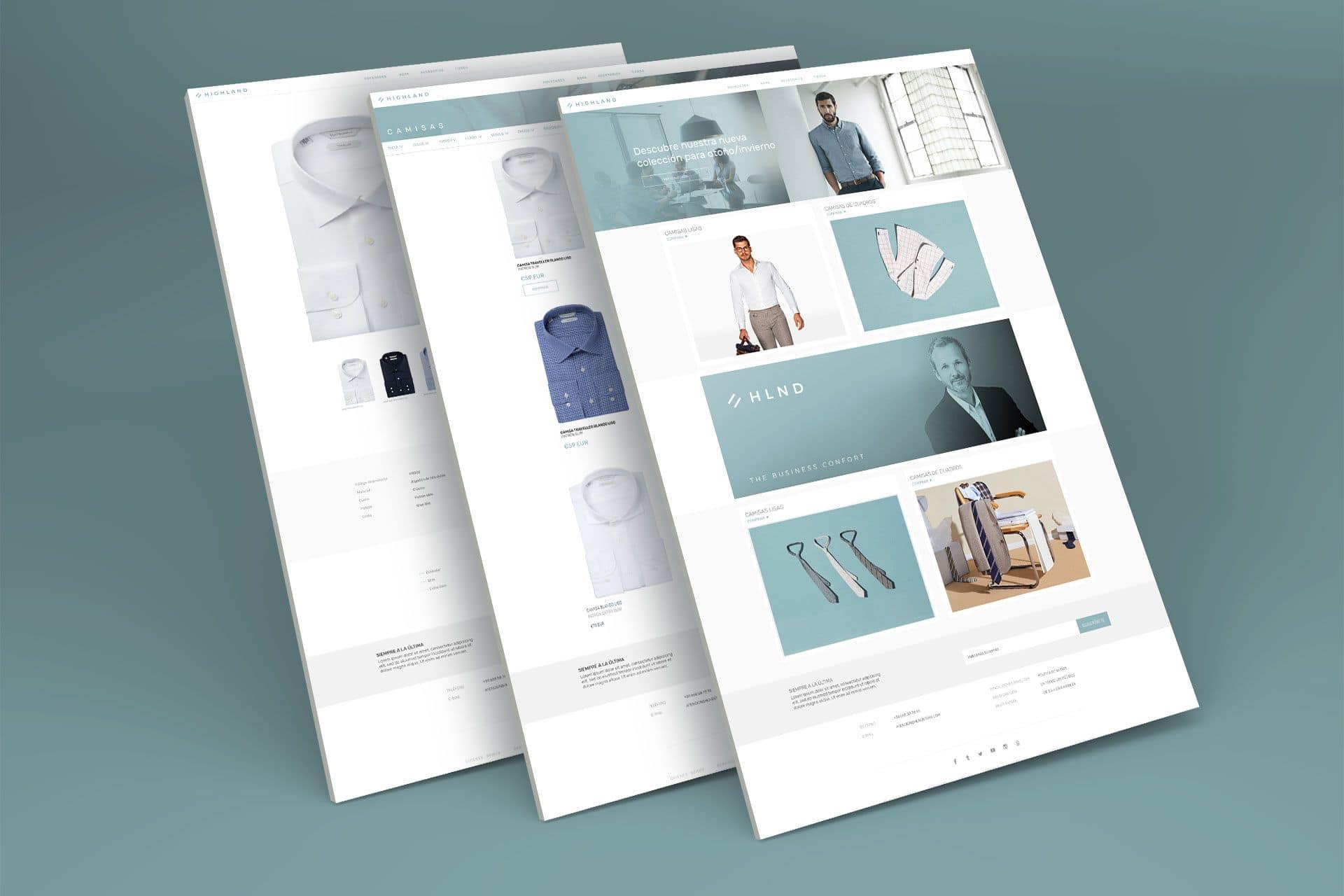 Diseño de la web de Highland