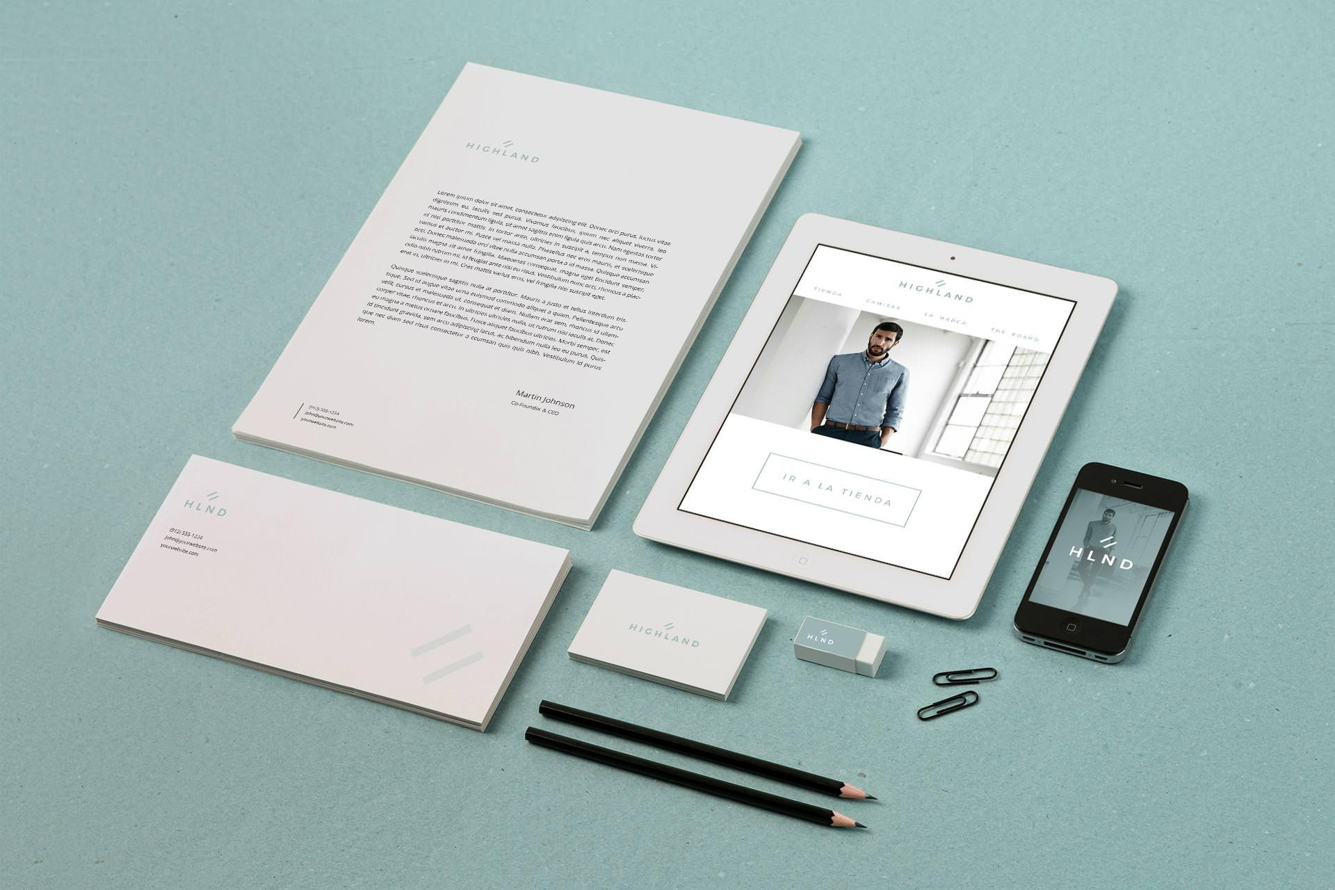 Corporate image application on different formats