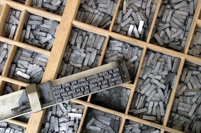 qué es la tipografía - tipos de móviles de plomo