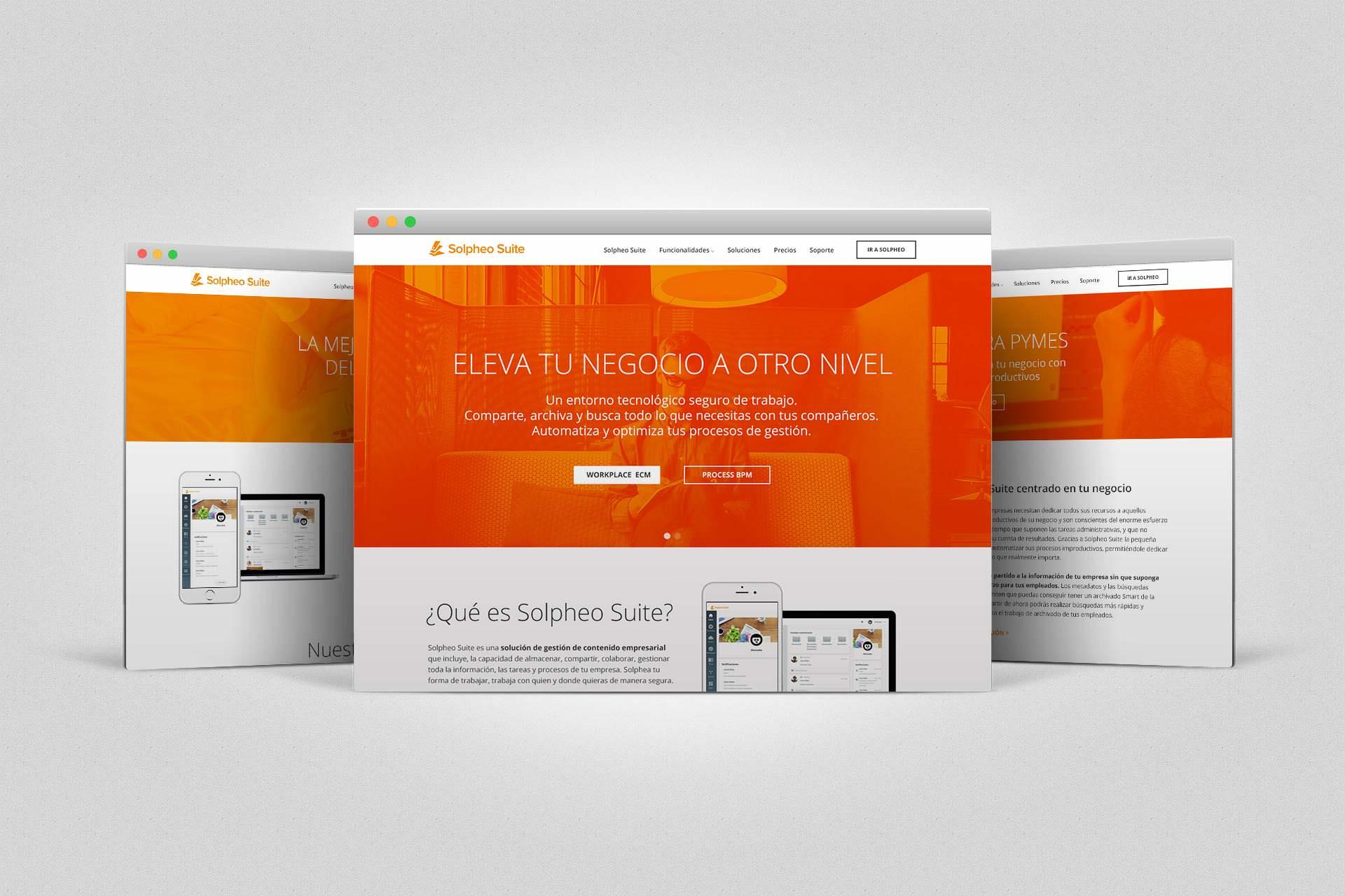Diseño Web Solpheo suite