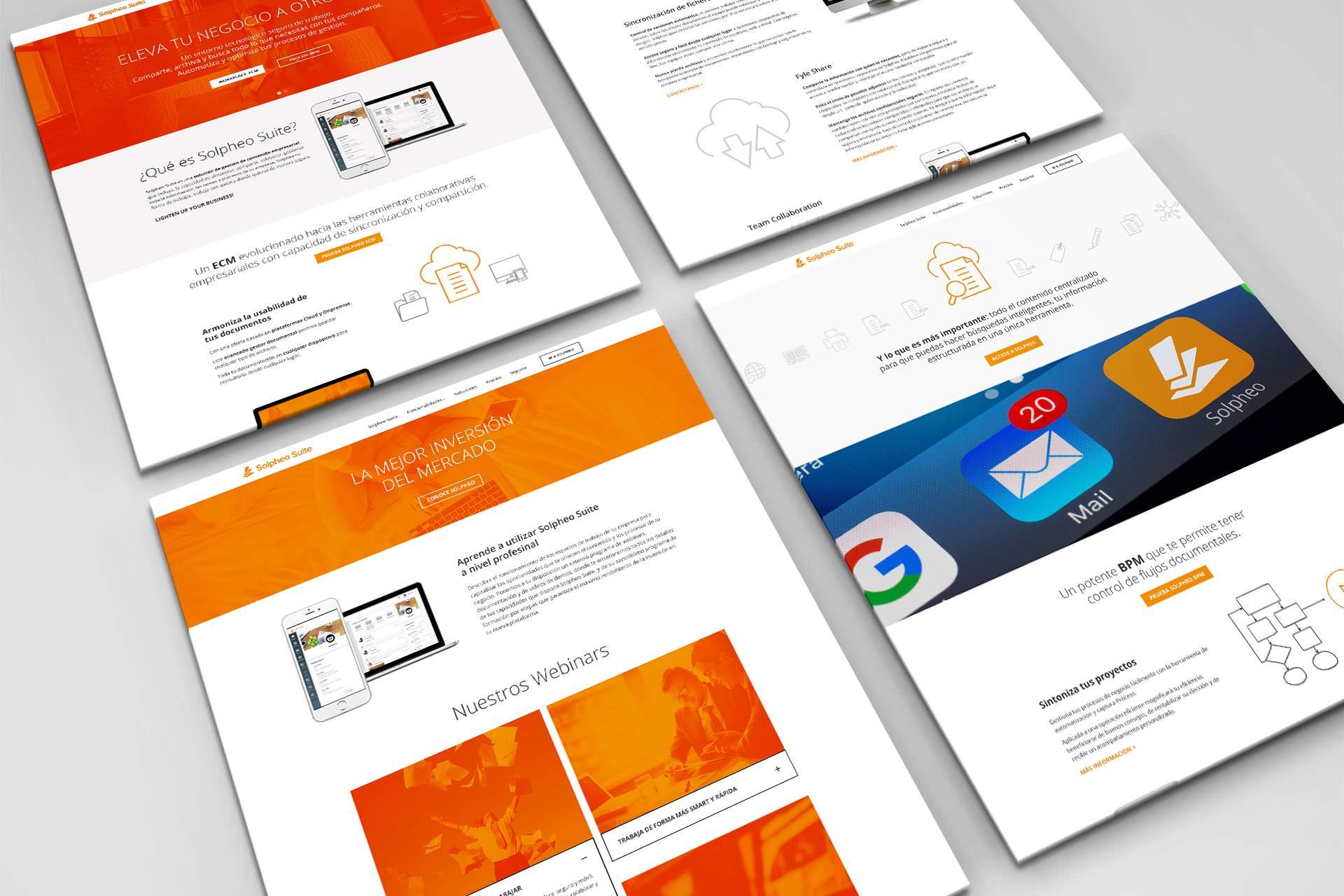 Diseño de web Solpheo Suite