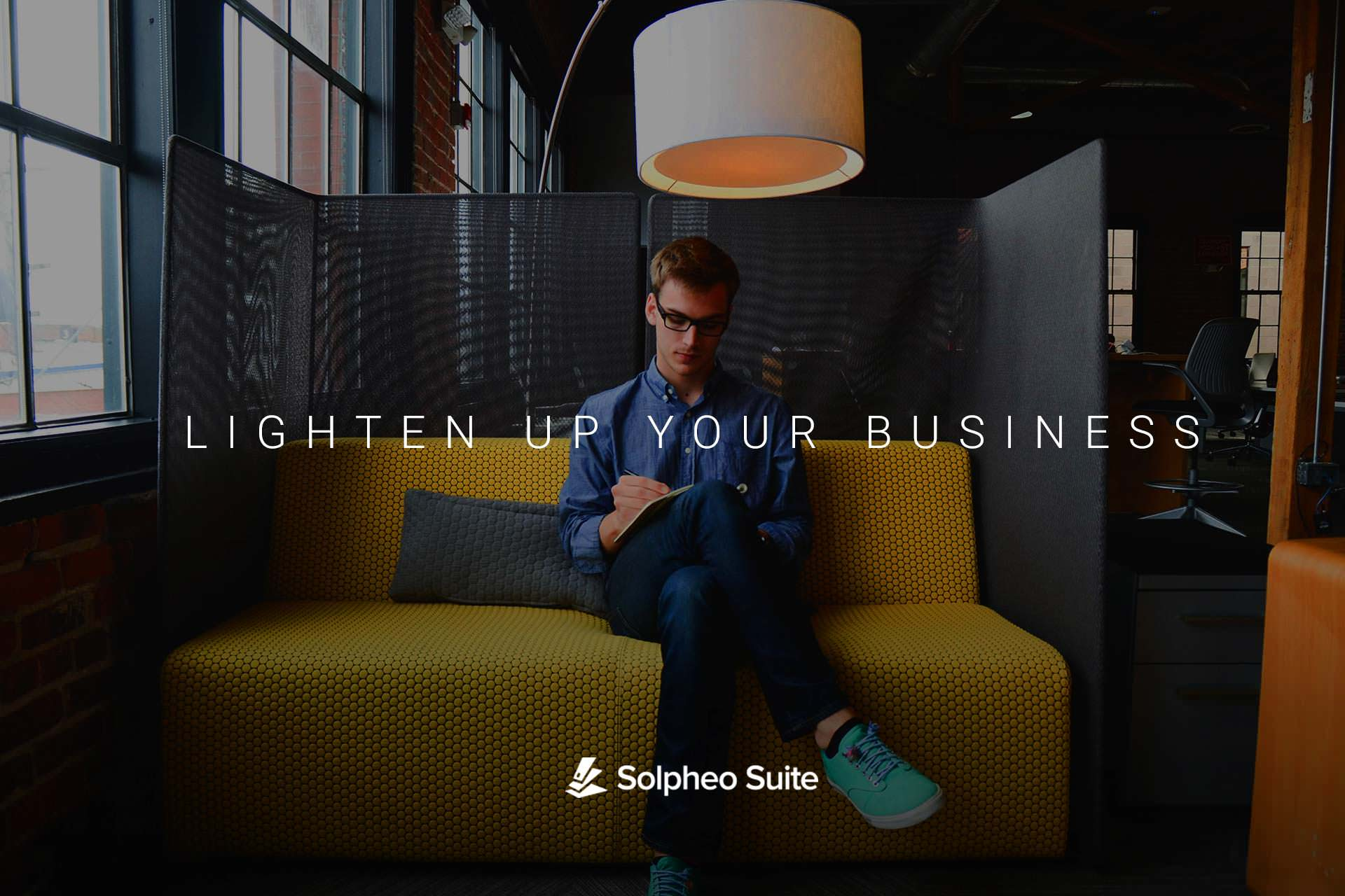 Lighten up your business Tagline Solpheo Suite