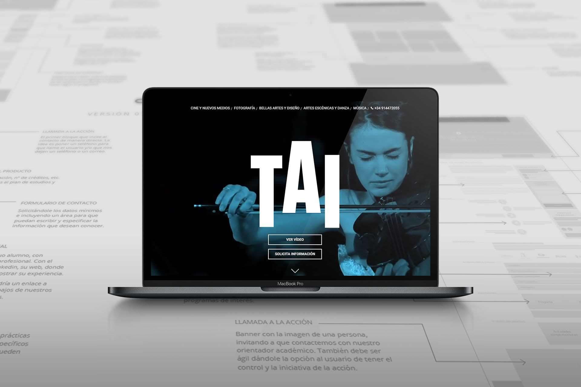 Web redesign and digital strategy UNIVERSITY TAI CENTER, 2016