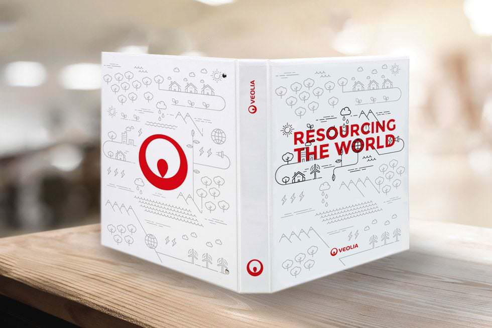 Diseño editorial para Veolia. Resourcing the World
